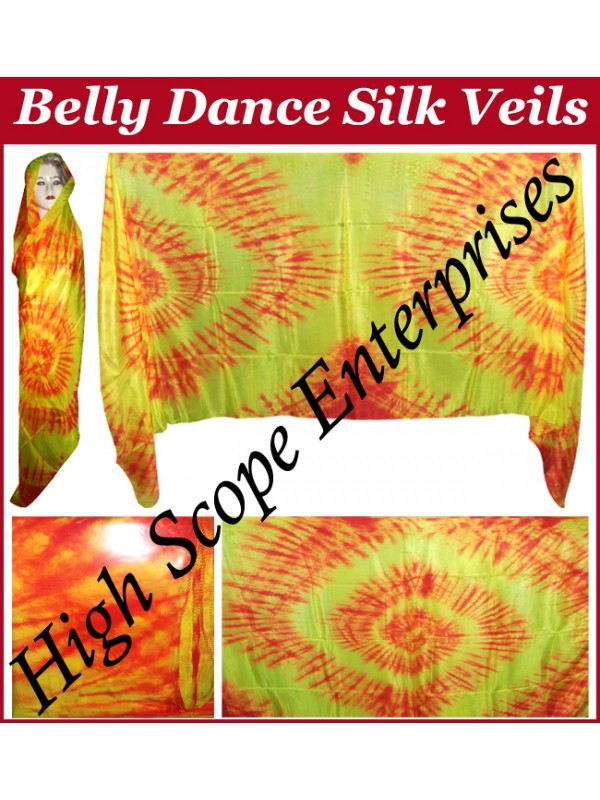 Belly Dance Special Color Rectangle Silk Veil HSE-RV-10001