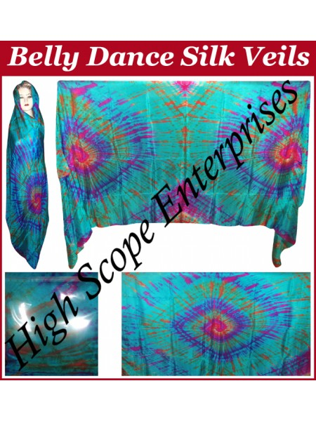 Belly Dance Special Color Rectangle Silk Veil HSE-RV-10007