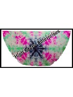 Belly Dance Tie-dye Color on Color Half Circle Silk Veil HSE-HCV-1001