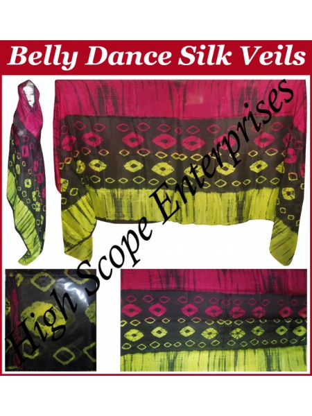Belly Dance Special Color Rectangle Silk Veil HSE-RV-10013