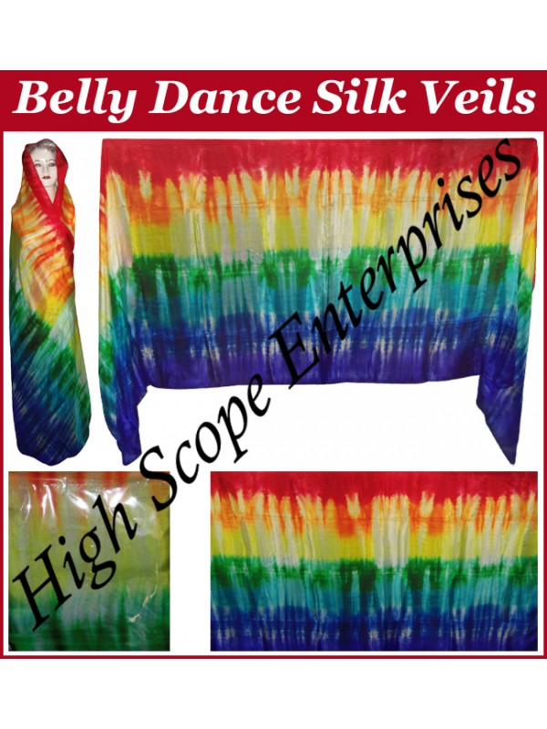 Belly Dance Special Color Rectangle Silk Veil HSE-RV-10018