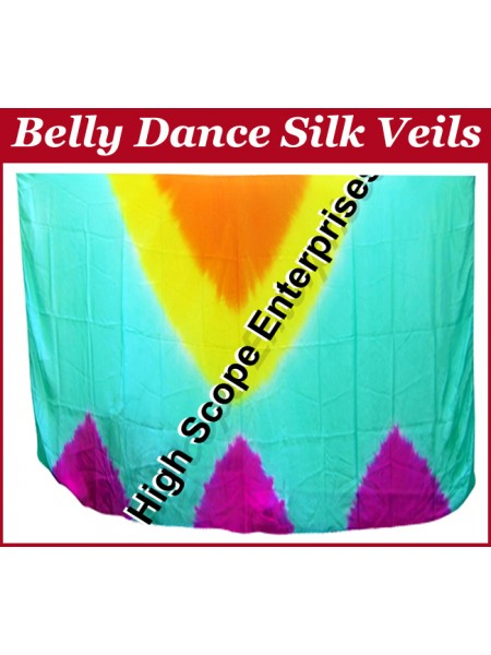 Belly Dance Special Color Rectangle Silk Veil HSE-RV-10023