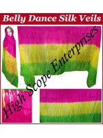 Belly Dance Three Color Gradient Rectangle Silk Veil HSE-RV-11005