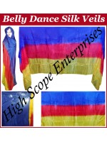 Belly Dance Three Color Gradient Rectangle Silk Veil HSE-RV-11006