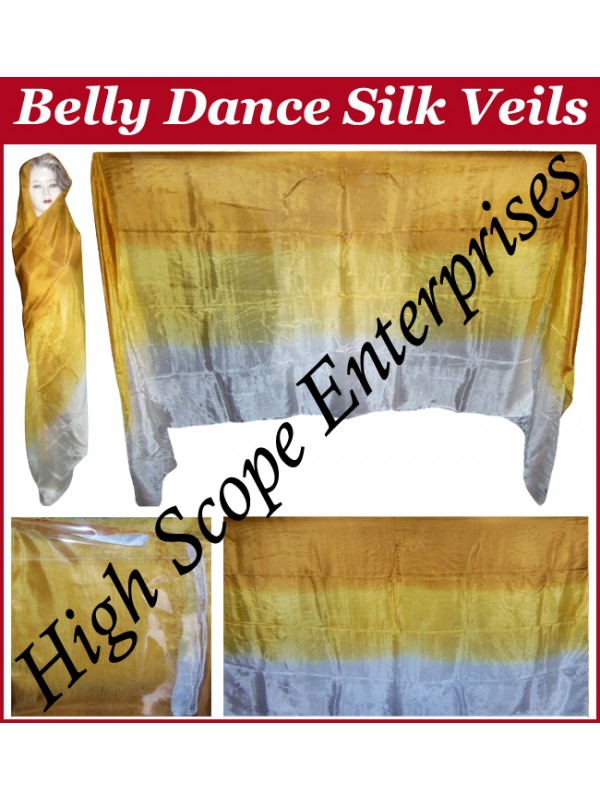 Belly Dance Three Color Gradient Rectangle Silk Veil HSE-RV-11007