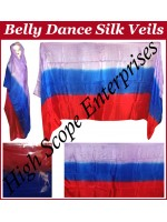 Belly Dance Three Color Gradient Rectangle Silk Veil HSE-RV-11010