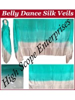 Belly Dance Three Color Gradient Rectangle Silk Veil HSE-RV-11011