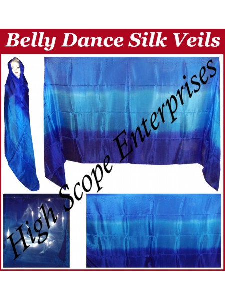 Belly Dance Three Color Gradient Rectangle Silk Veil HSE-RV-11012