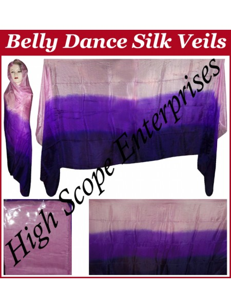 Belly Dance Three Color Gradient Rectangle Silk Veil HSE-RV-11016