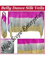 Belly Dance Three Color Gradient Rectangle Silk Veil HSE-RV-11017