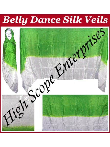Belly Dance Two Color Gradient Rectangle Silk Veil HSE-RV-13001