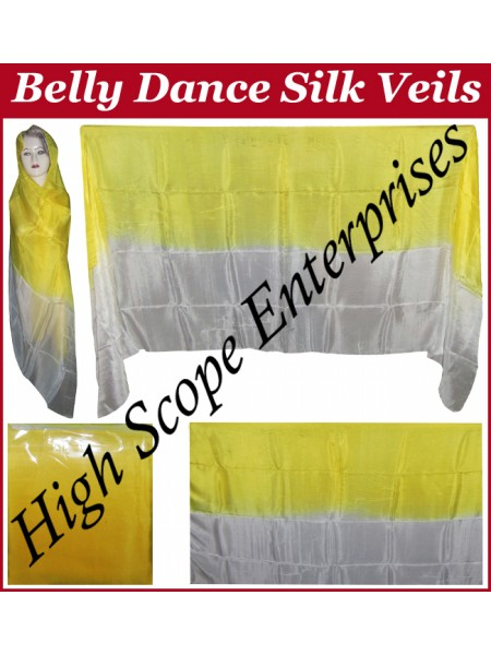 Belly Dance Two Color Gradient Rectangle Silk Veil HSE-RV-13002