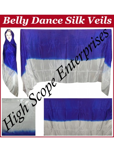 Belly Dance Two Color Gradient Rectangle Silk Veil HSE-RV-13003