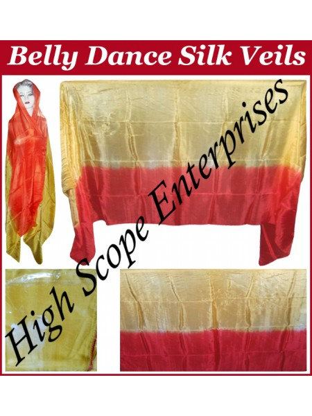 Belly Dance Two Color Gradient Rectangle Silk Veil HSE-RV-13006