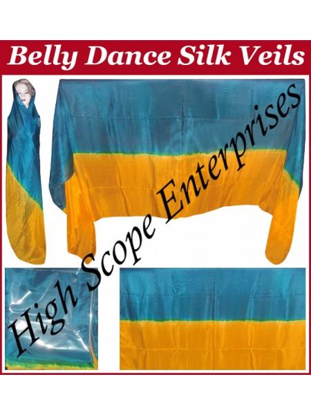 Belly Dance Two Color Gradient Rectangle Silk Veil HSE-RV-13007