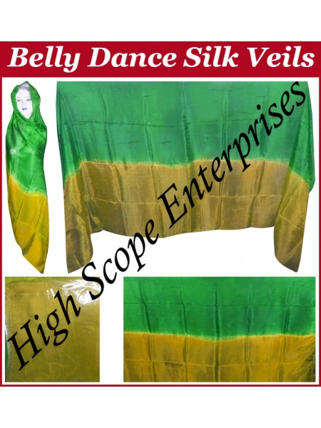 Belly Dance Two Color Gradient Rectangle Silk Veil HSE-RV-13016