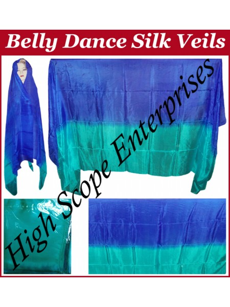 Belly Dance Two Color Gradient Rectangle Silk Veil HSE-RV-13017