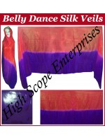 Belly Dance Two Color Gradient Rectangle Silk Veil HSE-RV-13020