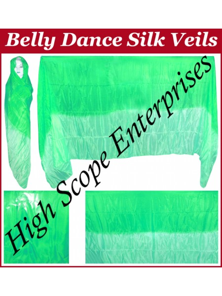 Belly Dance Two Color Gradient Rectangle Silk Veil HSE-RV-13021
