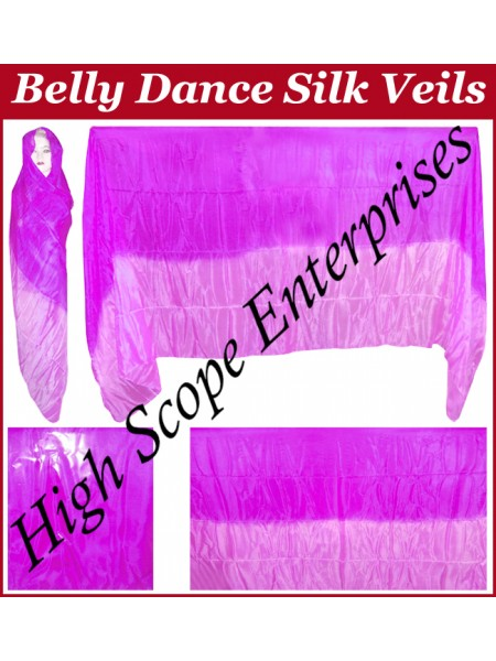 Belly Dance Two Color Gradient Rectangle Silk Veil HSE-RV-13022