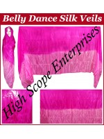 Belly Dance Two Color Gradient Rectangle Silk Veil HSE-RV-13023