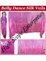 Belly Dance Two Color Gradient Rectangle Silk Veil HSE-RV-13024
