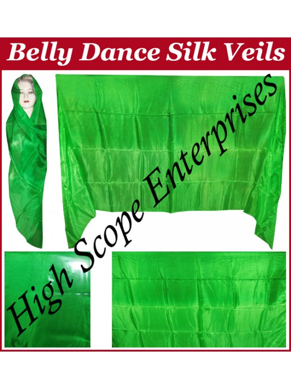 Belly Dance Two Color Gradient Rectangle Silk Veil HSE-RV-13025