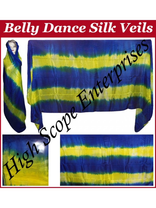 Belly Dance Two Color Gradient Rectangle Silk Veil HSE-RV-13027