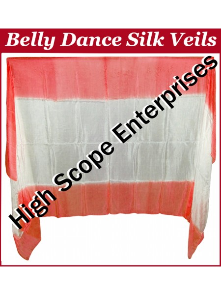 Belly Dance Two Color Gradient Rectangle Silk Veil HSE-RV-13028