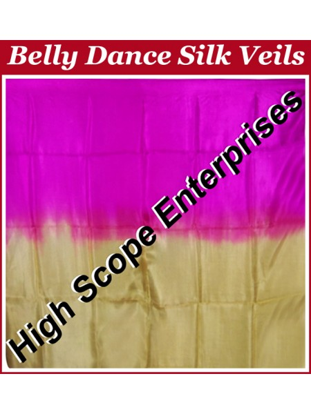 Belly Dance Two Color Gradient Rectangle Silk Veil HSE-RV-13052