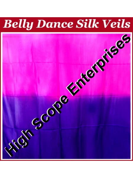 Belly Dance Two Color Gradient Rectangle Silk Veil HSE-RV-13054