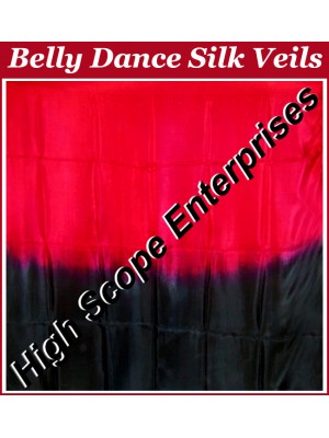 Belly Dance Two Color Gradient Rectangle Silk Veil HSE-RV-13055