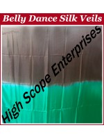 Belly Dance Two Color Gradient Rectangle Silk Veil HSE-RV-13056
