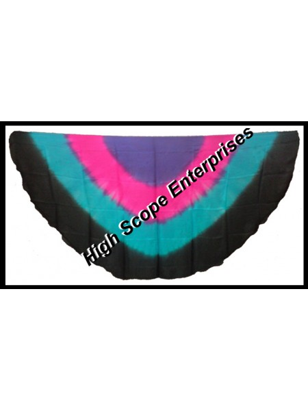 Belly Dance Four Color Gradient Half Circle Silk Veil HSE-HCV-2001