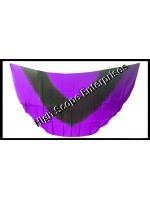 Belly Dance Two Color Gradient Half Circle Silk Veil HSE-HCV-4030