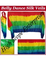 BellyDance Five Color Gradient Rectangle Silk Veil HSE-RV-5004