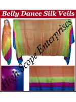 Belly Dance Four Color Gradient Rectangle Silk Veil HSE-RV-6001
