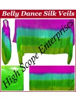 Belly Dance Four Color Gradient Rectangle Silk Veil HSE-RV-6007