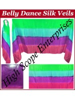 Belly Dance Four Color Gradient Rectangle Silk Veil HSE-RV-6011