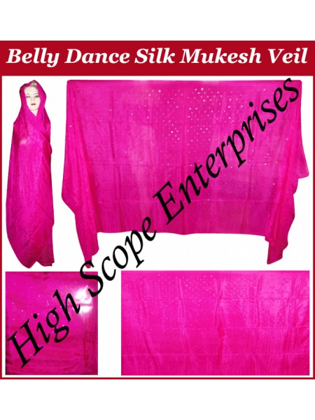 Belly Dance Mukesh Rectangle Silk Veil HSE-MSV-7001