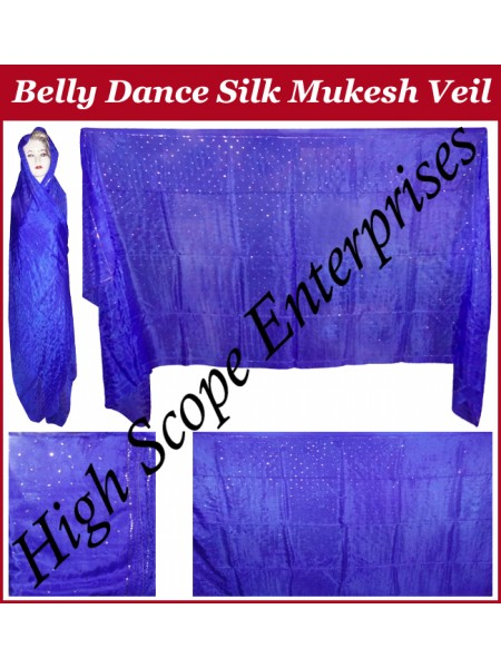 Belly Dance Mukesh Rectangle Silk Veil HSE-MSV-7002