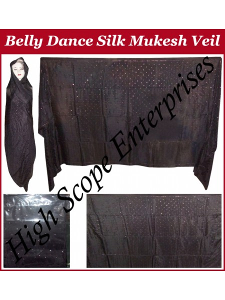 Belly Dance Mukesh Rectangle Silk Veil HSE-MSV-7003