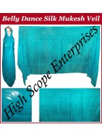 Belly Dance Mukesh Rectangle Silk Veil HSE-MSV-7004