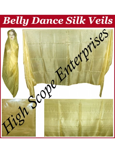 BellyDance Solid Rectangle Silk Veil HSE-RV-9007