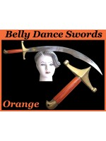 Belly Dance Swords With Orange Wooden Handle - HSE-BDS-7001