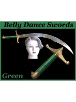 Belly Dance Swords With Green Wooden Handle - HSE-BDS-7003