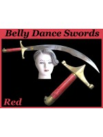 Belly Dance Swords With Red Wooden Handle - HSE-BDS-7004