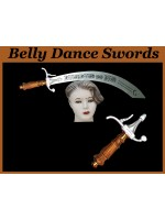 Belly Dance Aluminum Swords With Natural Color Wooden Handle - HSE-BDS-7007
