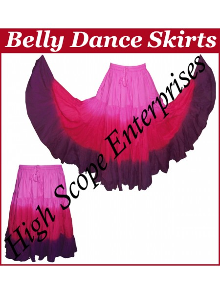Belly Dance Ladies Tie-Dye  Color Skirts HSE-LS-20027