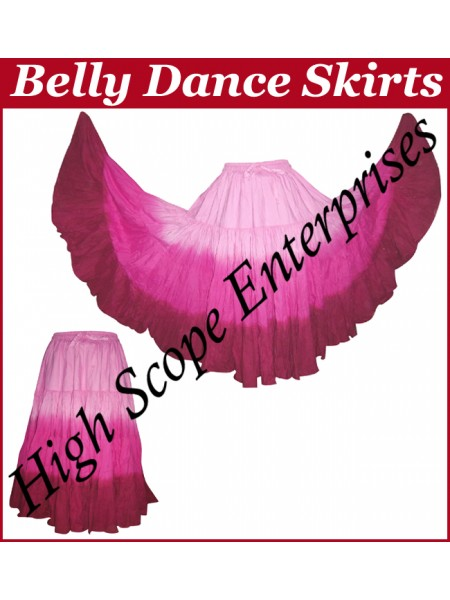 Belly Dance Ladies Tie-Dye  Color Skirts HSE-LS-20028